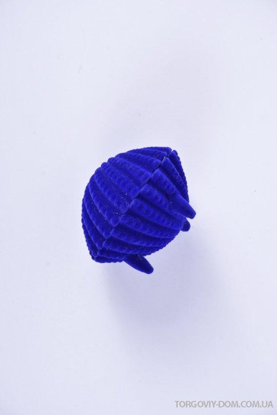 Коробочка для бижутерии бархатная (ракушка) размер 6.5/5/4 см. арт.GB1636-81R5-1