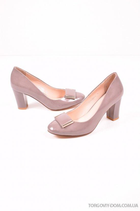Туфли женские лаковые GATERINNA Размеры в наличии : 35,36,37 арт.G3031-BR970-X