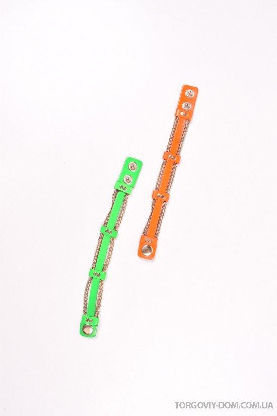 Кожаный браслет (размер 21/1,5 см.) арт.44/10