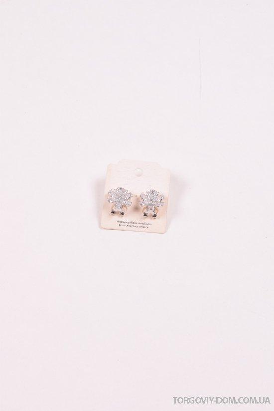 Серьги с камнями Сваровски арт.016101
