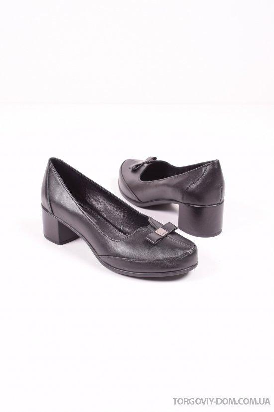 Туфли женские (цв.черный) из натуральной кожи SAURINI Размеры в наличии : 36,37,38,39,40 арт.885