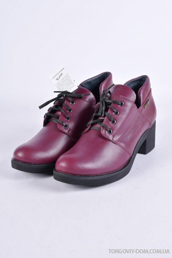 Туфли женские (цв.бордовый) из натуральной кожи Violetti Размеры в наличии : 36,37,38,39,40,41 арт.2854