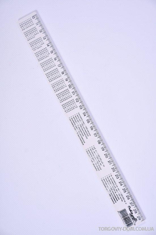 Линейка пластмассовая 30 см.Irbis арт.Математика