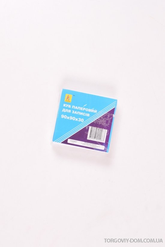 "Бумага для заметок 300 листов (белая) 90/90/30мм ""Коленкор"" арт.0983"